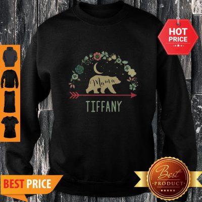 Pretty Tiffany Name Gift Floral Personalized Mama Bear Sweatshirt
