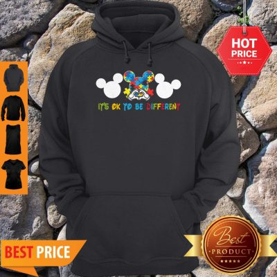 Autism Mickey Mouse It's Ok To Be Different Hoodie