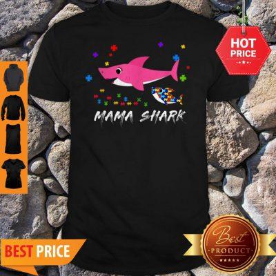 Awesome Mama Shark Autism Awareness Tee For Mama Gift Shirt