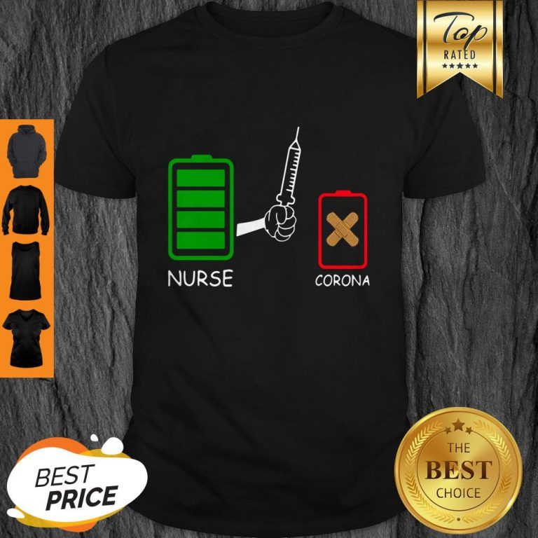 Battery Source Nurse And Coronavirus Covid-19 Shirt