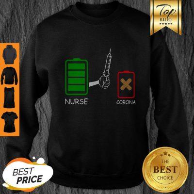 Battery Source Nurse And Coronavirus Covid-19 Sweatshirt