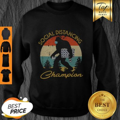 Bigfoot Hug Toilet Paper Social Distancing Champion Vintage Sweatshirt