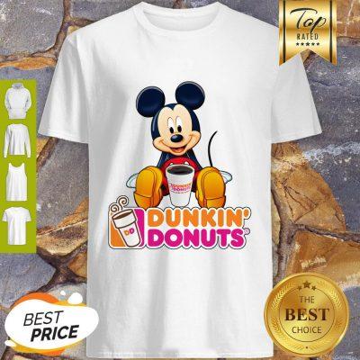 Disney Mickey Mouse Mashup Dunkin' Donuts Shirt