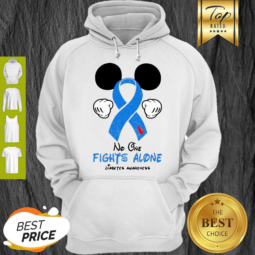 Disney Mickey Mouse No One Fights Alone Diabetes Awareness Hoodie