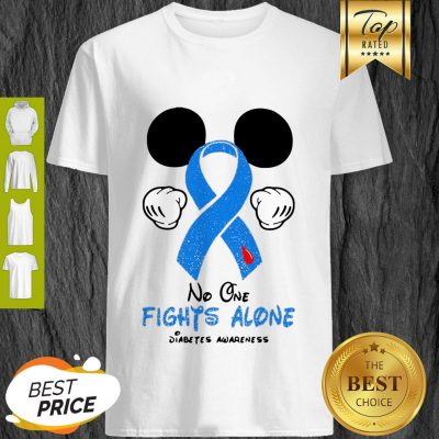 Disney Mickey Mouse No One Fights Alone Diabetes Awareness Shirt