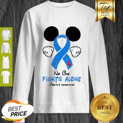 Disney Mickey Mouse No One Fights Alone Diabetes Awareness Sweatshirt