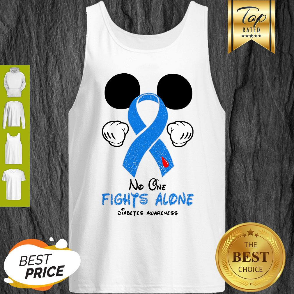 Disney Mickey Mouse No One Fights Alone Diabetes Awareness Tank Top