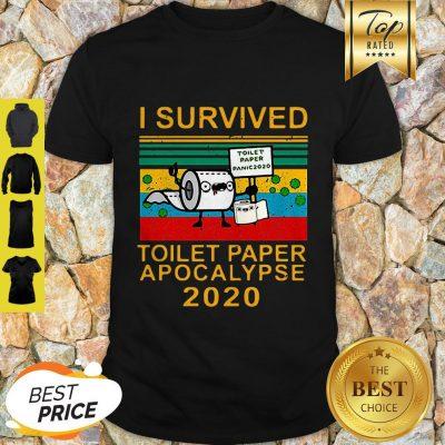 I Survived Toilet Paper Apocalypse 2020 Covid 19 Sunset Shirt
