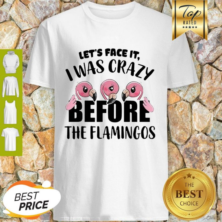 Let's Face It I Was Crazy Before The Flamingos Shirt