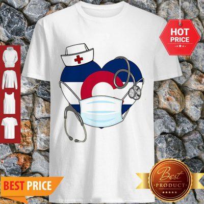 Love Colorado Stethoscope Nurse Mask Shirt