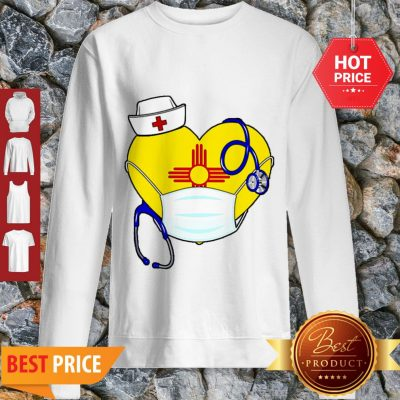 Love New Mexico Nurse Mask Coronavirus Sweatshirt