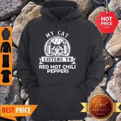 My Cat Listen To Red Hot Chily Pepper Headphone Cat Hoodie