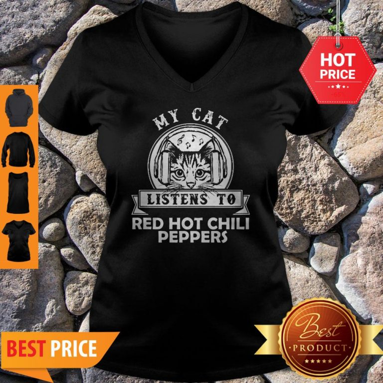 My Cat Listen To Red Hot Chily Pepper Headphone Cat Tank Top