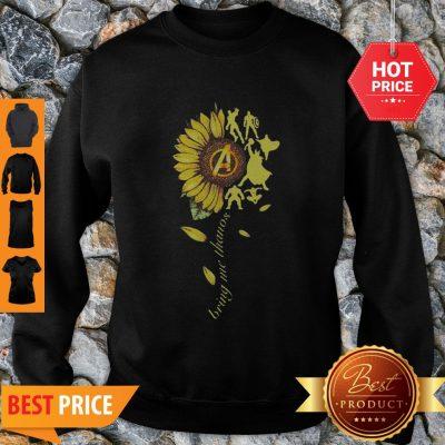 Nice Sunflower Avengers Bring Me Thanos Sweatshirt