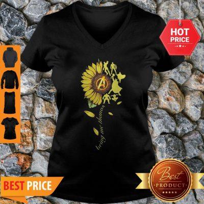 Nice Sunflower Avengers Bring Me Thanos V-neck