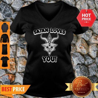 Official Satan Loves You V-neck