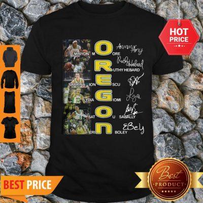 Oregon Ducks Minyon Moore Ruthy Hebard Signatures Shirt