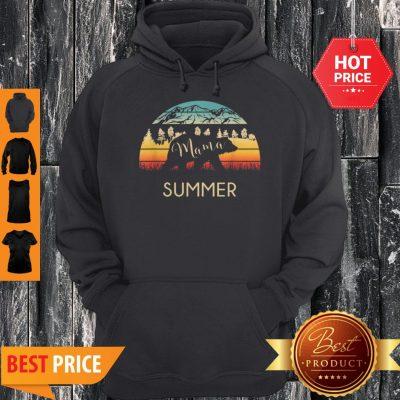 Original Summer Name Gift Retro Sun Personalized Mama Bear Hoodie