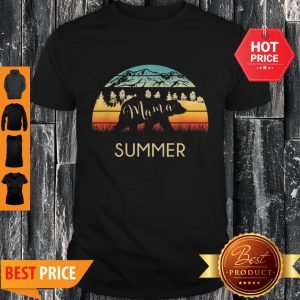 Original Summer Name Gift Retro Sun Personalized Mama Bear Shirt