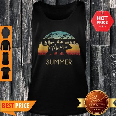 Original Summer Name Gift Retro Sun Personalized Mama Bear Tank Top