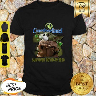 Pretty Baby Yoda Cumberland Farms Survived Covid-19 2020 Shirt