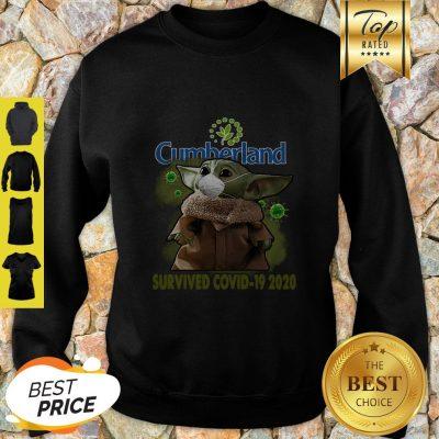 Pretty Baby Yoda Cumberland Farms Survived Covid-19 2020 Sweatshirt