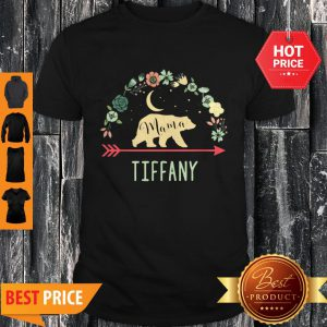 Pretty Tiffany Name Gift Floral Personalized Mama Bear Shirt