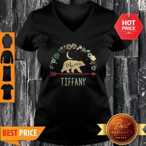 Pretty Tiffany Name Gift Floral Personalized Mama Bear Pretty Tiffany Name Gift Floral Personalized Mama Bear V-neck