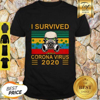 Stormtrooper I Survived Covid-19 Coronavirus 2020 Vintage Shirt