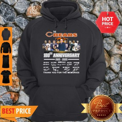 The Chicago Bears 100th Anniversary Signed Thank You For The Memories Hoodie