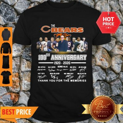 The Chicago Bears 100th Anniversary Signed Thank You For The Memories Shirt