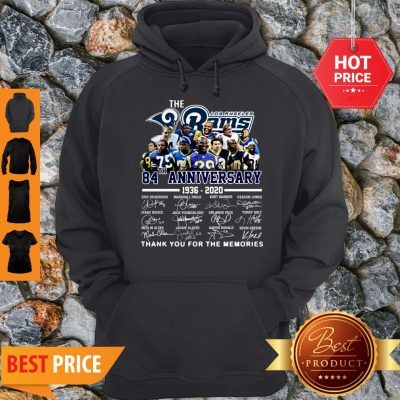The Los Angeles Rams 84th Anniversary 1936-2020 All Signature Hoodie