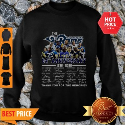 The Los Angeles Rams 84th Anniversary 1936-2020 All Signature Sweatshirt