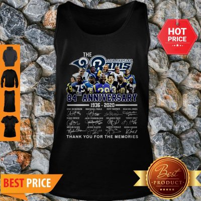 The Los Angeles Rams 84th Anniversary 1936-2020 All Signature Tank Top