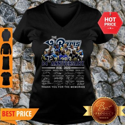 The Los Angeles Rams 84th Anniversary 1936-2020 All Signature V-neck