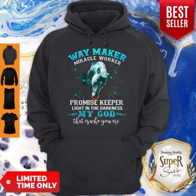 Horse Way Maker Miracle Worker Promise Keeper Light In The Darkness My God Hoodie