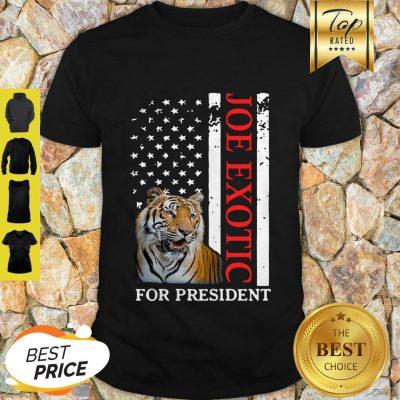 Joe Exotic Tiger King For President American Flag Shirt