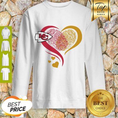 Kansa City Chief Heart Fingerprint Sweatshirt