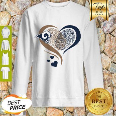 Los Angeles Rams Heart Fingerprint Sweatshirt