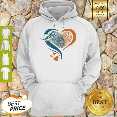 Miami Dolphins Heart Fingerprint Hoodie
