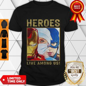 Nice Nurse Heroes Live Among US Shirt