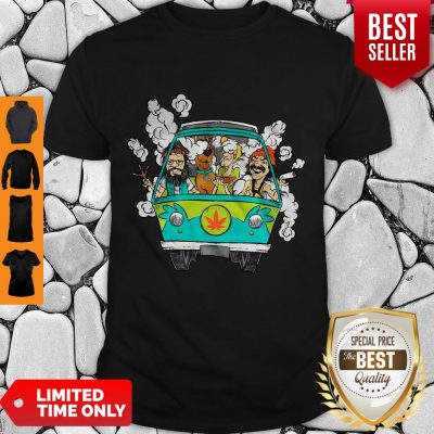 Official Peace Bus Scooby Doo And Friends Smoking Weed Shirt