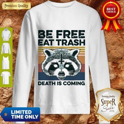 Raccoon Be Free Eat Trash Death Is Coming Sweatshirt