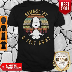 Awesome Snoopy Namastay 6 Feet Away Shirt