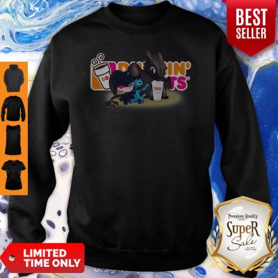 Top Stitch And Toothless And Dunkin' Donuts Logo Sweatshirt