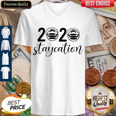 Awesome 2020 Staycation Quarantine V-neck