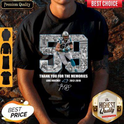 Luke Kuechly 59 Thank You For The Memories Carolina Panthers Shirt
