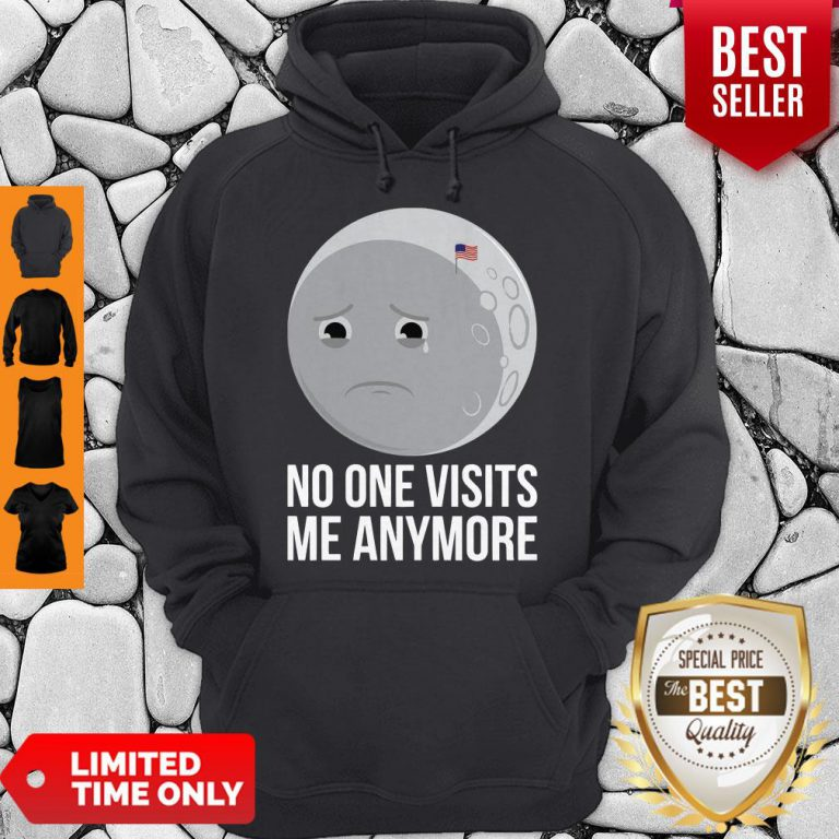 No One Visits Me Anymore Sad Moon Face American Flag Hoodie