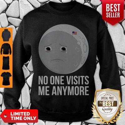No One Visits Me Anymore Sad Moon Face American Flag Sweatshirt
