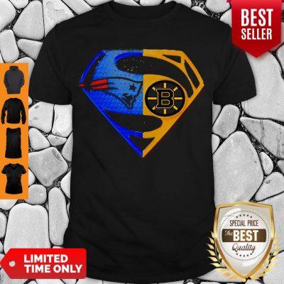 Premium Superhero New England Patriots And Boston Bruins Diamond Shirt
